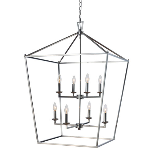 trans globe lighting lacey polished chrome 26 inch eight light