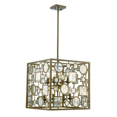 Trans Globe Lighting Festival Antique Gold Eight-Light Pendant