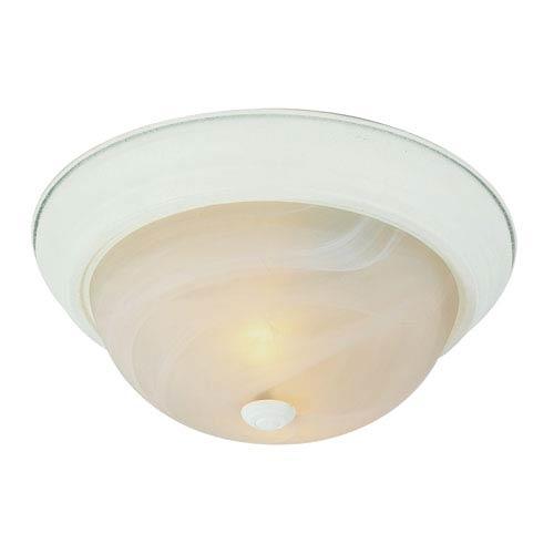 The Standard 15 Inch Three-Light Flush Mount -Antique White
