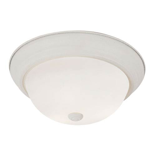 Trans Globe Lighting Antique White Button Frost 13 Inch Flush Mount