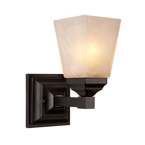 Trans Globe Lighting Black One-Light Bath Bar