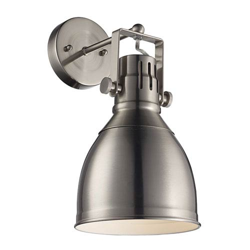 Trans Globe Lighting Winrock Brushed Nickel One-Light Wall Sconce