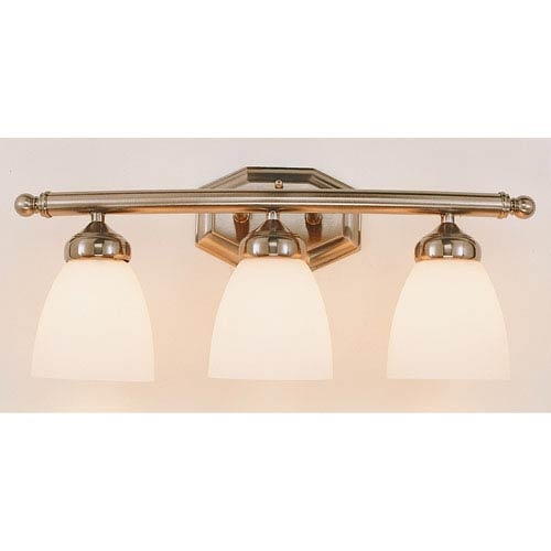 Trans Globe Lighting TempThree-Light Bath Light Fixture -Brushed Nickel