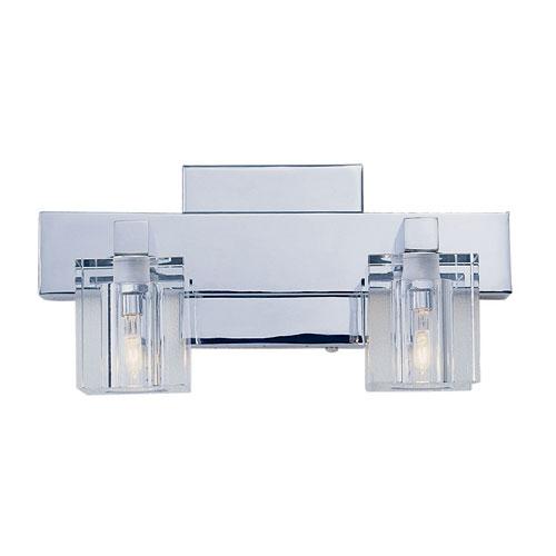 Two-Light Polished Chrome Bath Fixture