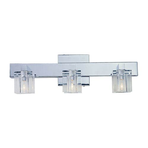 Three-Light Polished Chrome Bath Fixture