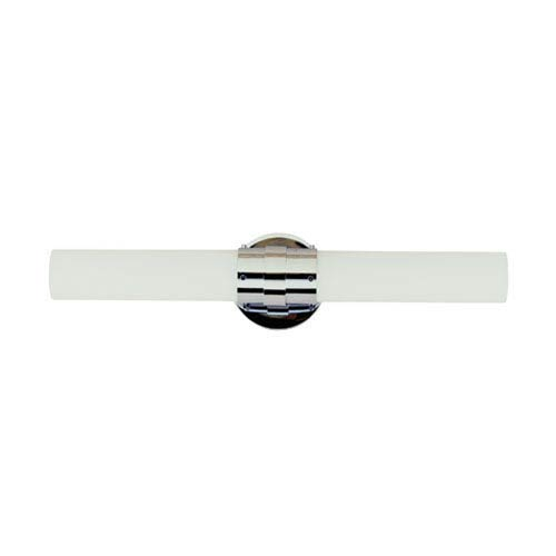 Solstice Brushed Nickel 20-Inch Two Light Bath Fixture Bar with White Frosted Glass
