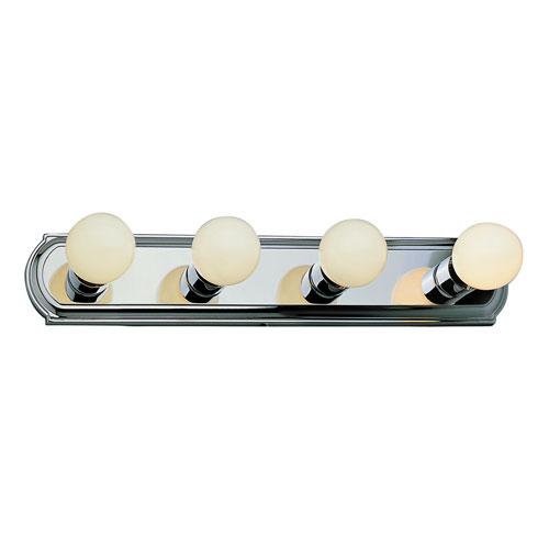 Trans Globe Lighting Racetrack Four-Light Vanity -Polished Chrome