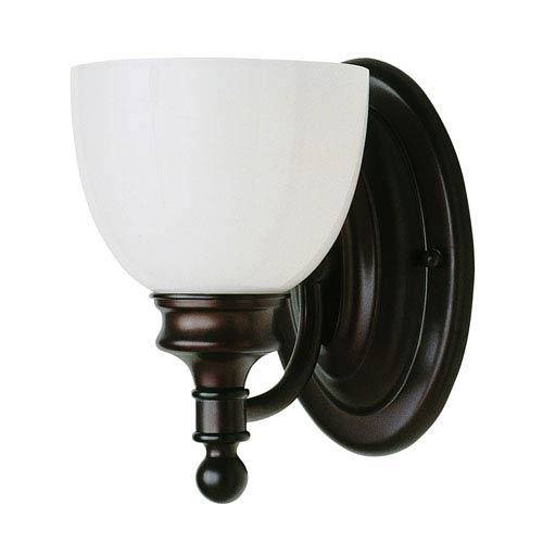One-Light Rubbed Oil Bronze Wall Sconce
