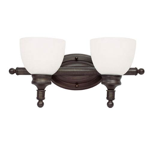Button Willow Two-Light Wall Bar In Bronze