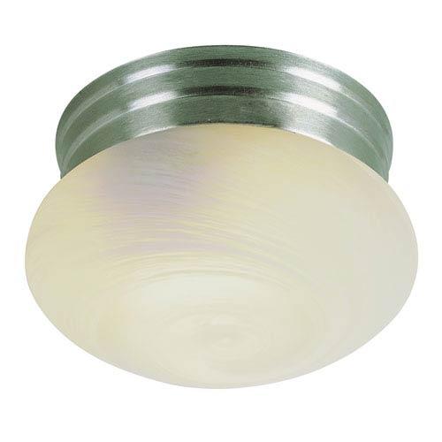 Trans Globe Lighting Dellwood 8 Inch Flushmount Nickel