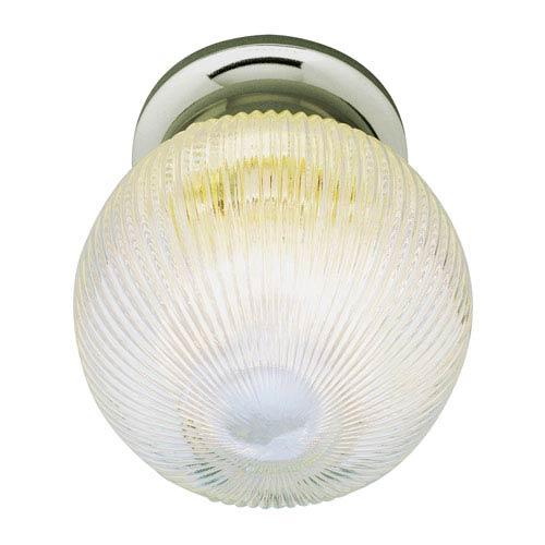 Trans Globe Lighting Holophane Globe 6 Inch Flush-Mount Nickel