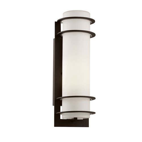 Trans Globe Lighting Cityscape Black Torch 16-Inch Wall Sconce with White Frost