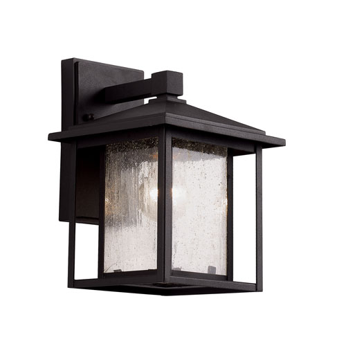 Trans Globe Lighting Black One-Light 11-Inch High Outdoor Wall Lantern