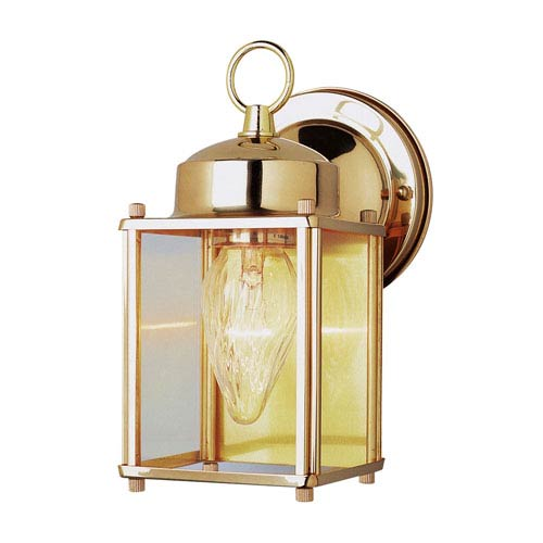 Trans Globe Lighting Purisima Mission 9 Inch High Wall Bracket In Polished Brass