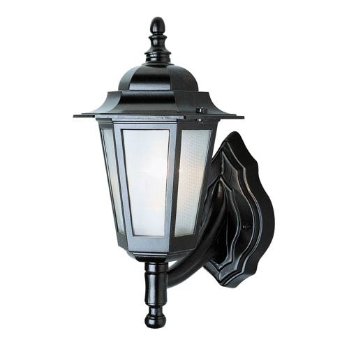 Trans Globe Lighting Windsor 14 Inch High Outdoor Wall Coach -Black