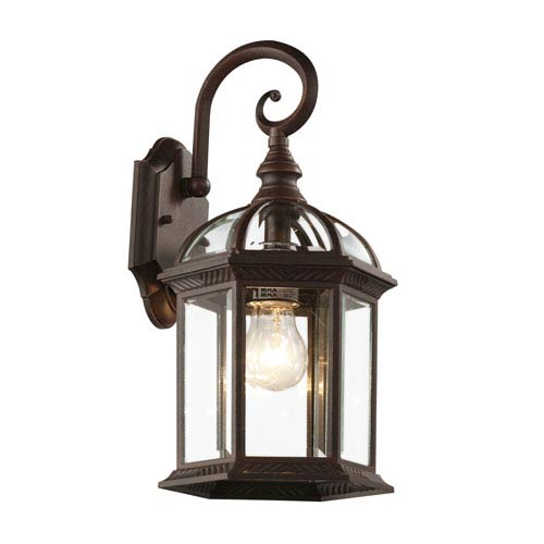 Trans Globe Lighting Botanica 15 3 4 Inch Outdoor Coach Lantern In Rust