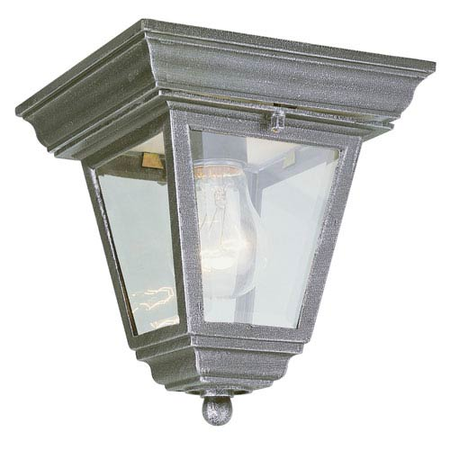 Vermont Rust 7-Inch Outdoor Flush Mount Ceiling Light