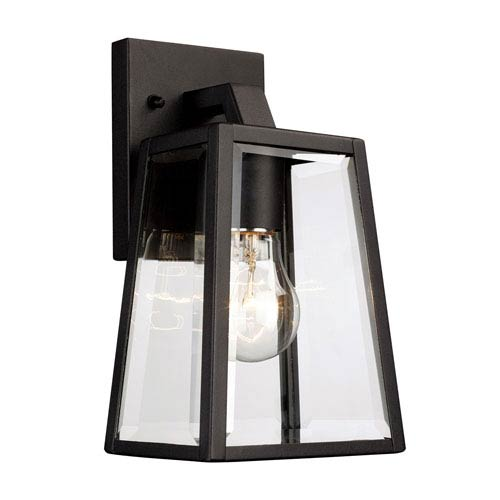 Obsidian Black 10-Inch One-Light Outdoor Wall Mount