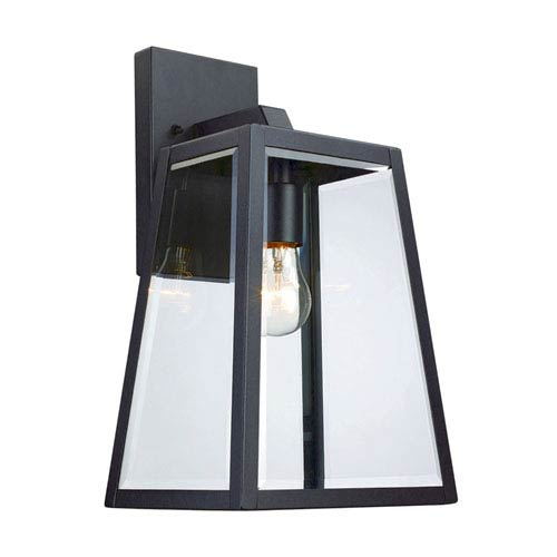Obsidian Black 15-Inch One-Light Outdoor Wall Mount
