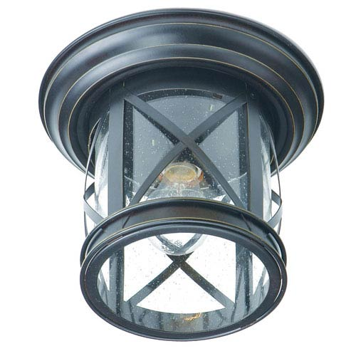 Superb Trans Globe Lighting New England Coastal Rubbed Oil Bronze Outdoor Flush  Mount Ceiling LIght Great Pictures