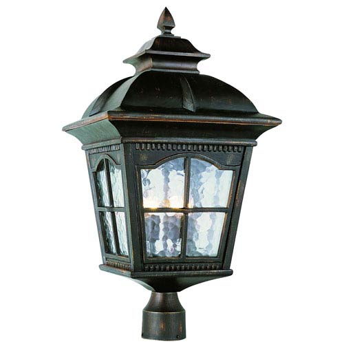 Four-Light Antique Rust Large Outdoor Post Light