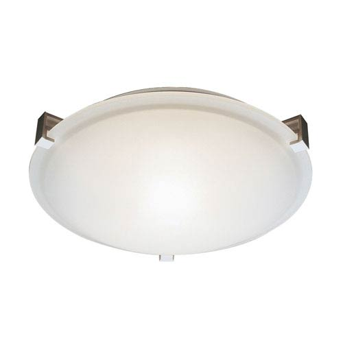 Trans Globe Lighting Brushed Nickel Three-Light Flush Mount
