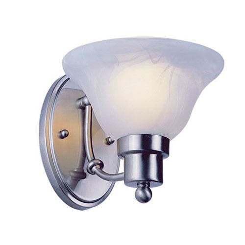 Trans Globe Lighting Payson Brushed Nickel Wall Sconce with Alabaster Glass