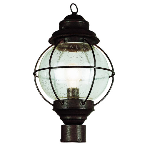 One-Light Rustic Bronze Large Onion Outdoor Post Light