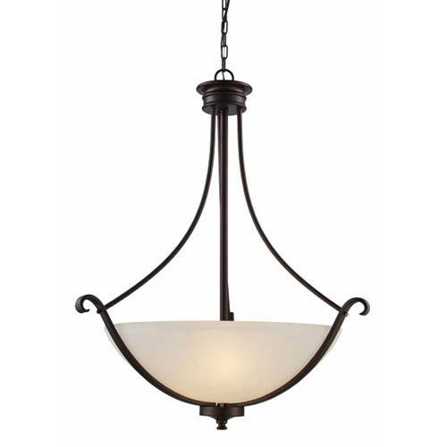 Trans Globe Lighting Rubbed Oil Bronze 24-Inch Three-Light Pendant