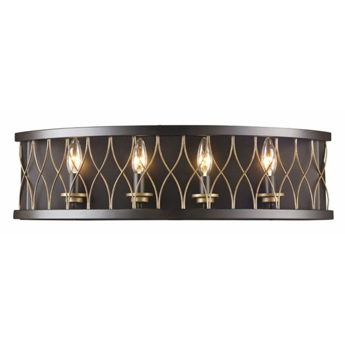 Rubbed Oil Bronze 18-Inch Three-Light Wall Sconce