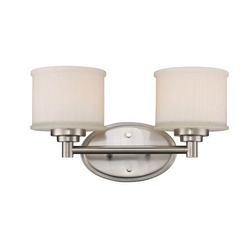 Trans Globe Lighting Cahill Brushed Nickel Two-Light Bath Vanity