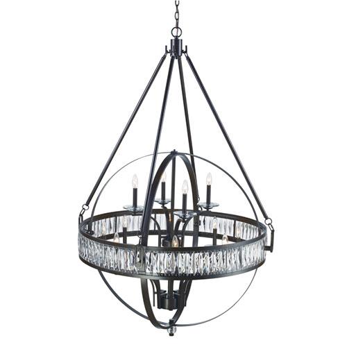 Trans Globe Lighting Elan Rubbed Oil Bronze 12-Light Chandelier