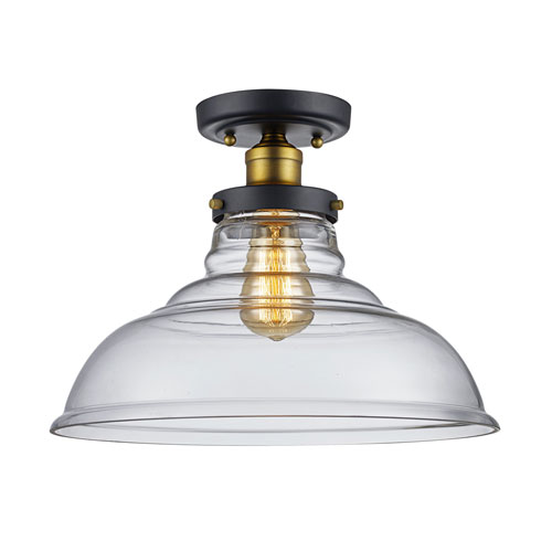 Jackson Oil Rubbed Bronze One-Light Semi Flush Mount