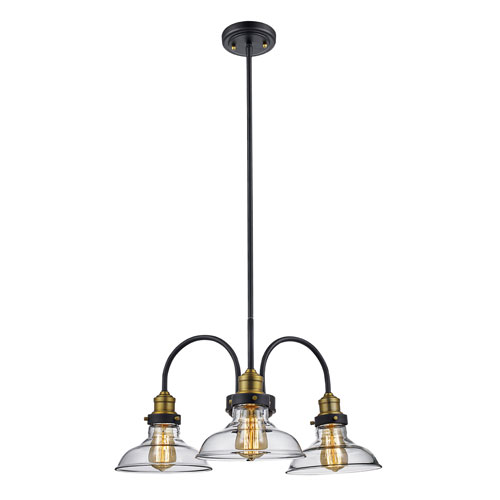 Jackson Oil Rubbed Bronze Three-Light Chandelier