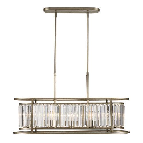 Trans Globe Lighting Dapper Antique Silver Leaf Five-Light Pendant