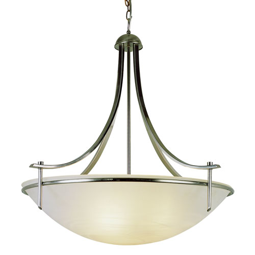 Contemporary Four-Light Brushed Nickel Pendant