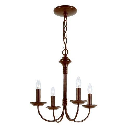 Trans Globe Lighting Colonial Energy Saving Four-Light Chandelier In Bronze