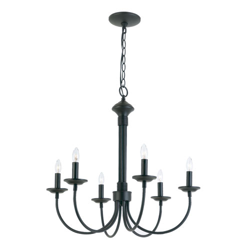 trans globe lighting new century six light black chandelier 9016 bk