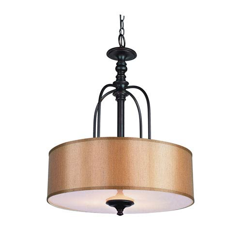 Trans Globe Lighting Modern Meets Traditional Rubbed Oil Bronze Three-Light Pendant