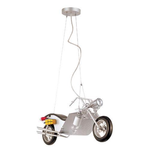 Trans Globe Lighting Motorcycle Pendant Light -Silver