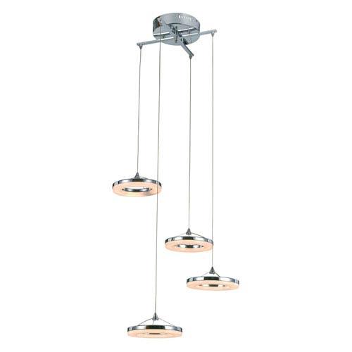 Trans Globe Lighting Optic Polished Chrome Four-Light LED Mini Pendant