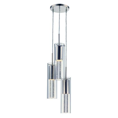 Trans Globe Lighting Vanderpool Polished Chrome Three-Light LED Pendant
