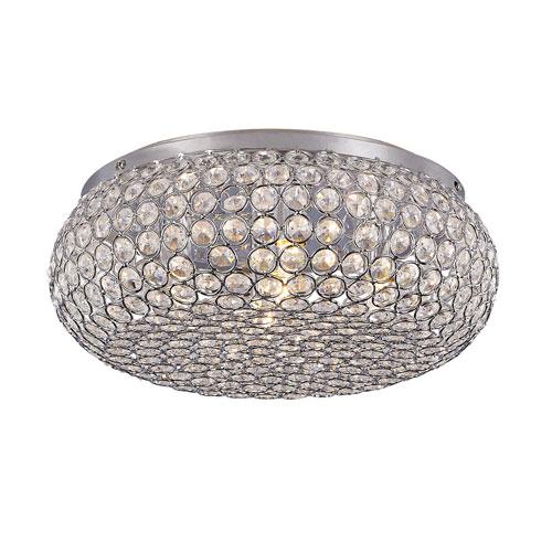 Trans Globe Lighting Polished Chrome Five-Light 12-Inch Wide Flushmount