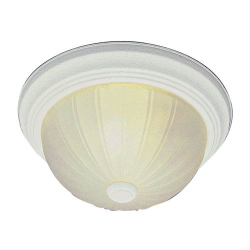 Trans Globe Lighting Melon 11 Inch Flushmount -Antique White