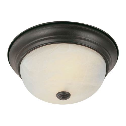 Trans Globe Lighting Energy Saving Standard 13 Inch Flushmount In Bronze