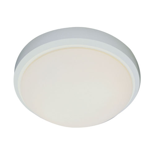 Trans Globe Lighting Classic Energy Saver 13-Inch Frosted Flush Mount with White Frosted Glass