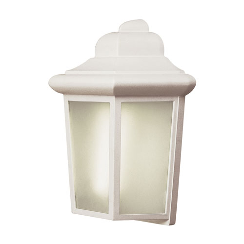 One-Light White Outdoor Wall Pocket