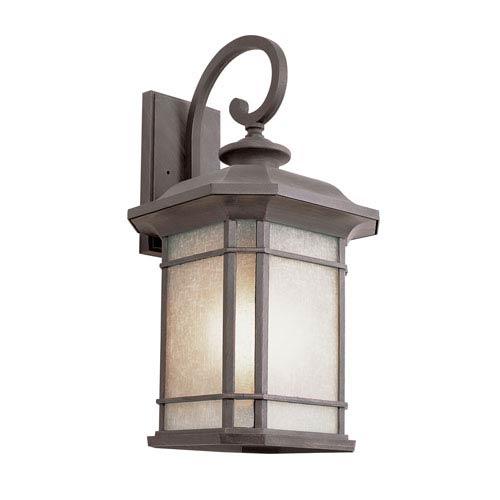 Trans Globe Lighting Corner Window 20 Inch Wall Lantern In Rust