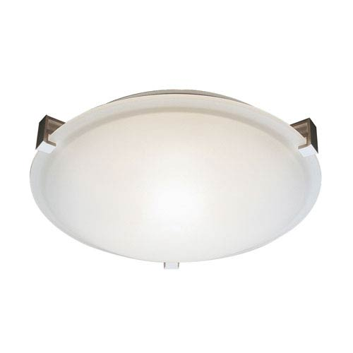 Trans Globe Lighting White Two-Light Flush Mount with Clipped Glass