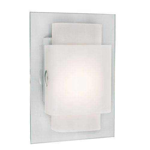 Trans Globe Lighting Beveled Rectangle Wall Sconce -Polished Chrome